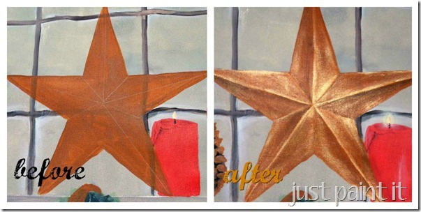 how to paint 3D star