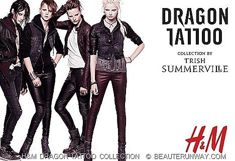H&M DRAGON The Girl with the Dragon Tattoo COLLECTION TRISH SUMMERVILLE  Stieg Larsson Millennium Trilogy, David Fincher