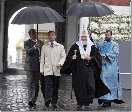 Медведев и патриарх Кирилл