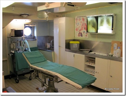 The operating theatre in case of emergencies.