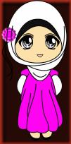 Doodle Muslimah Comel Warna Pink