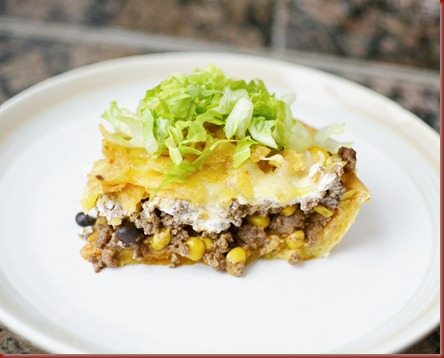 I knew this would be an instant hit in our family Taco Pie