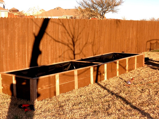 building raised garden box style with cents6