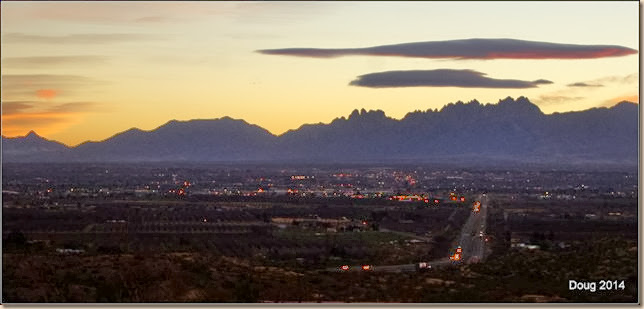 Sunrise over Las Cruces