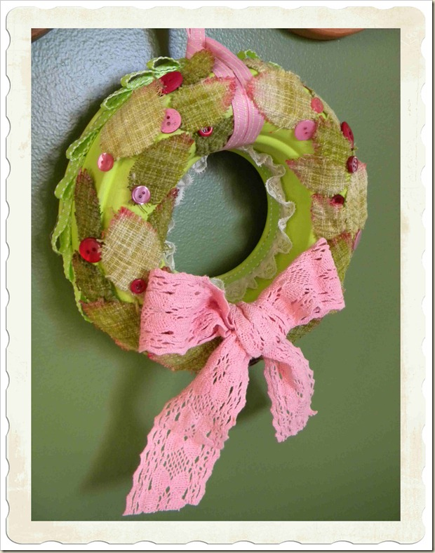 Recycled jello wreath