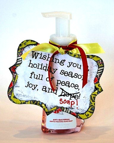 Christmas Neighbor Gift...wishing you a holiday season full of peace, joy, and soap!