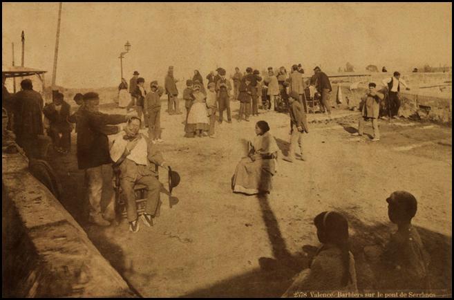 barberos en puerta de serranos 1888