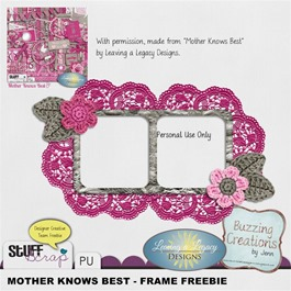 Leaving a Legacy Designs - Mother Knows Best - Frame Freebie Preview