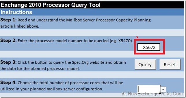 Input to Processor Query Tool