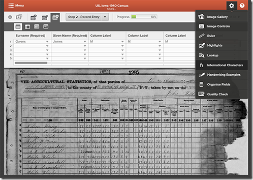 The upcoming FamilySearch Indexing browser integrated indexing tool