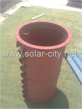 homemade solar water heater -thermal storage tank