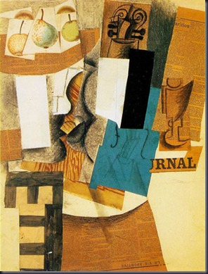 Pablo Picasso, Still Life with Violin and Fruit