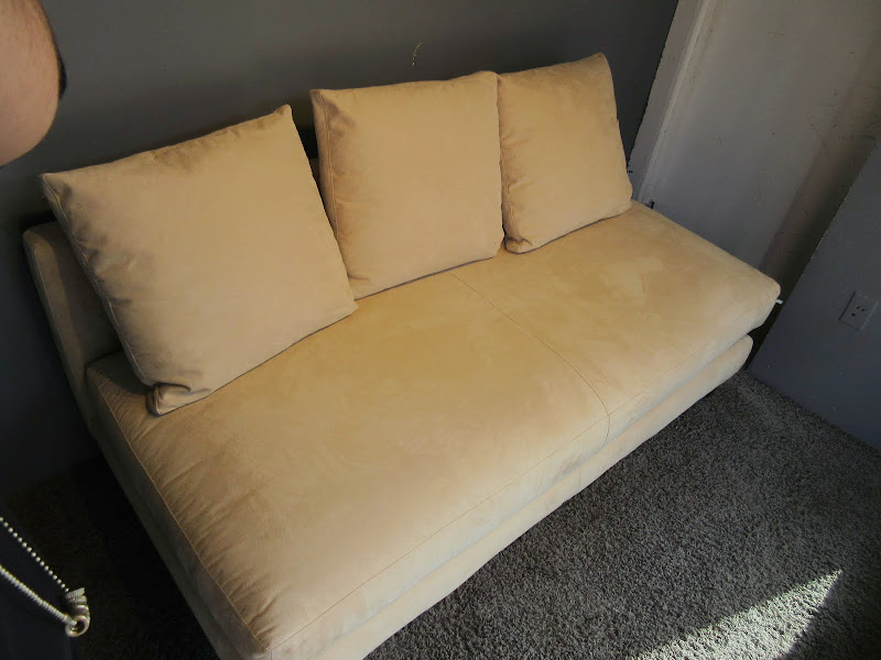 Crate and Barrel Armless Sofa