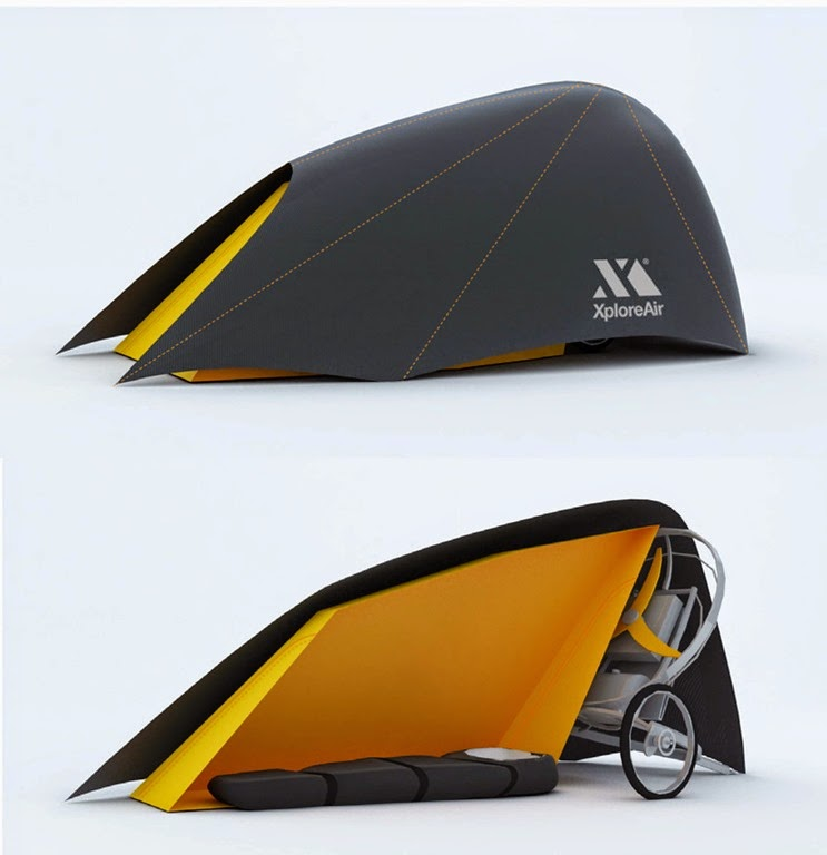 flying bike tent