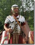 Roman Legionary wearing 1st century armor