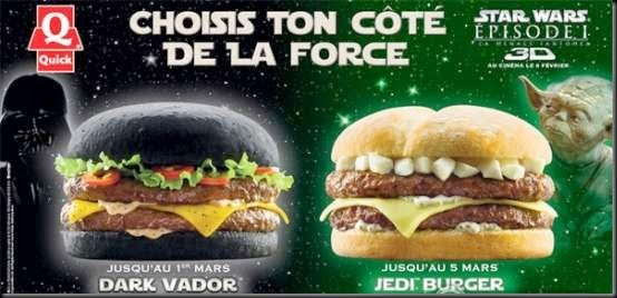 quick burger star wars 3d vader yoda burger Star Wars Hamburger
