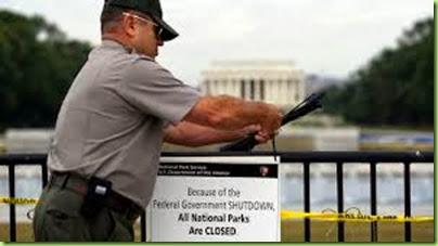 nat'l park closing