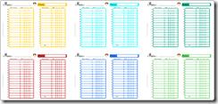 planning perpetuel nounou garcon 6 couleurs