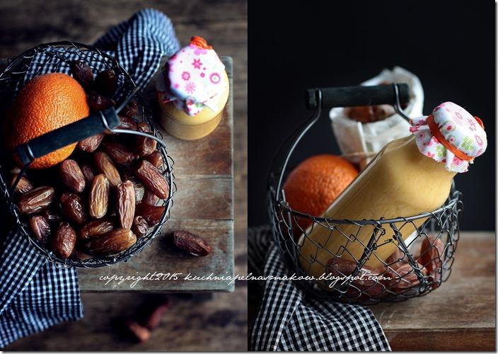 Daktyle, mandarynki i jogurt grecki