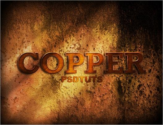 Cara Membuat Teks Efek Copper dengan Photoshop 1