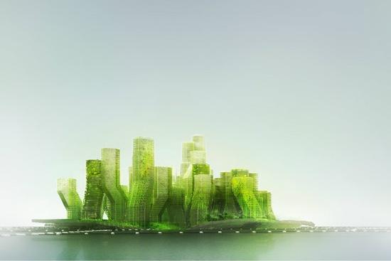 Ciudad flotante que transforma el CO2 en biodiesel