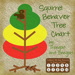 Treegold and Beegold: Squirrel Themed Behavior Tree and Reward Chart