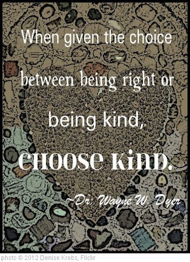 'Choose Kind' photo (c) 2012, Denise Krebs - license: http://creativecommons.org/licenses/by/2.0/