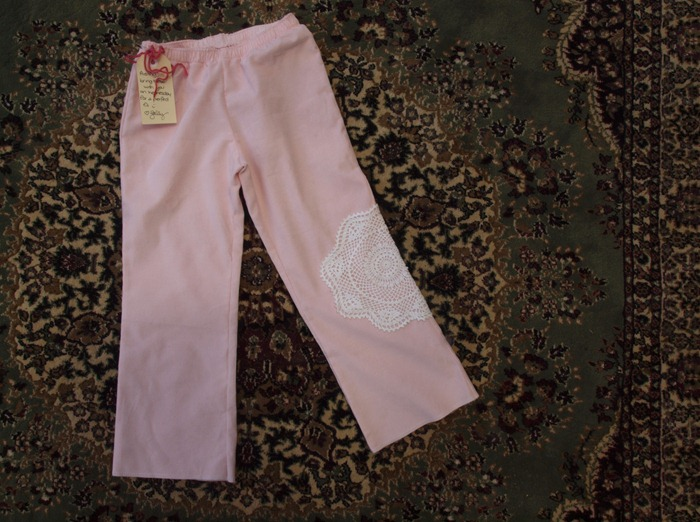 pink doily pants