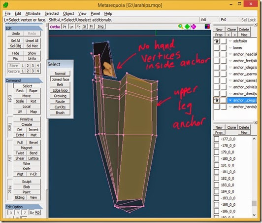Reshape upper leg anchor to exclude hand vertices