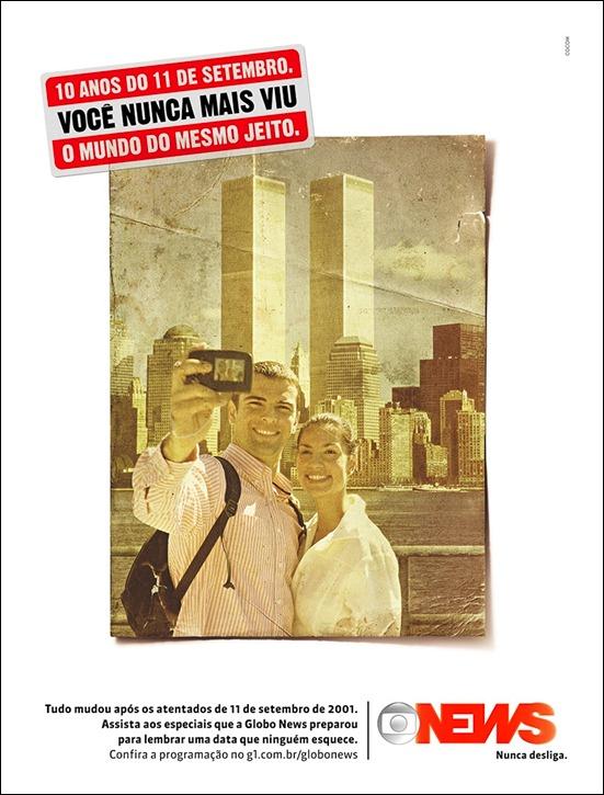 Anúncio: Especial 11 de setembro na Globo News
