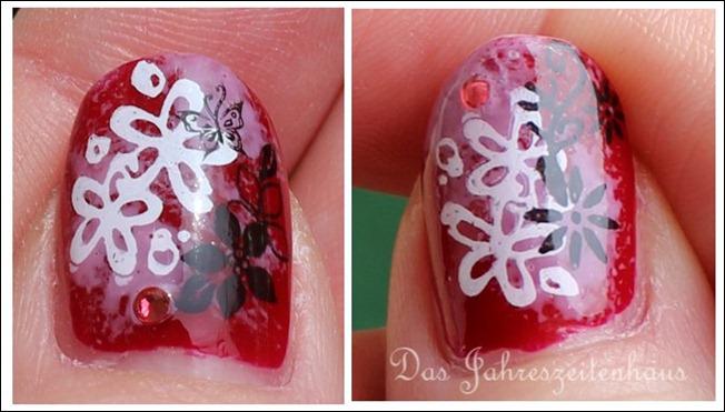 Floral Grunge Nails 11
