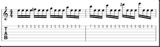 Ejercicio con escala menor armónica