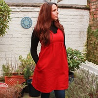 Su Sews So So Red Washi Dress-2