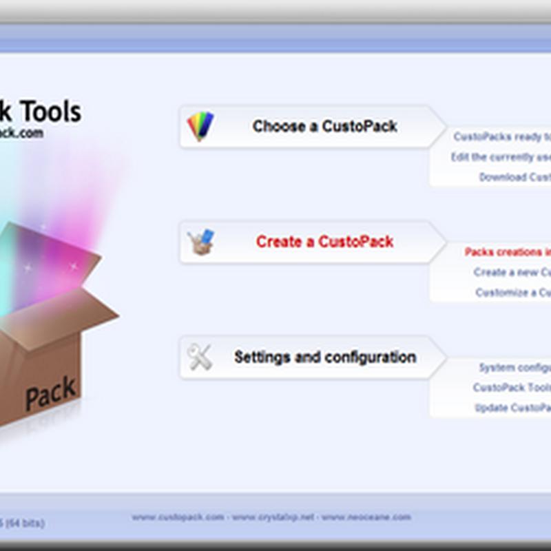 Custopack Tools cara mudah modifikasi tampilan desktop