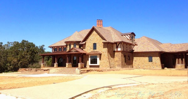 Texas European Style House Outside