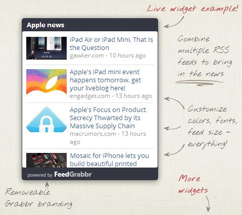 ejemplo del widget