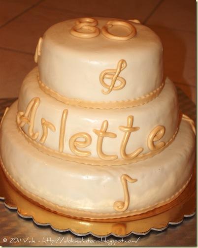 Torta 80 anni Arlette