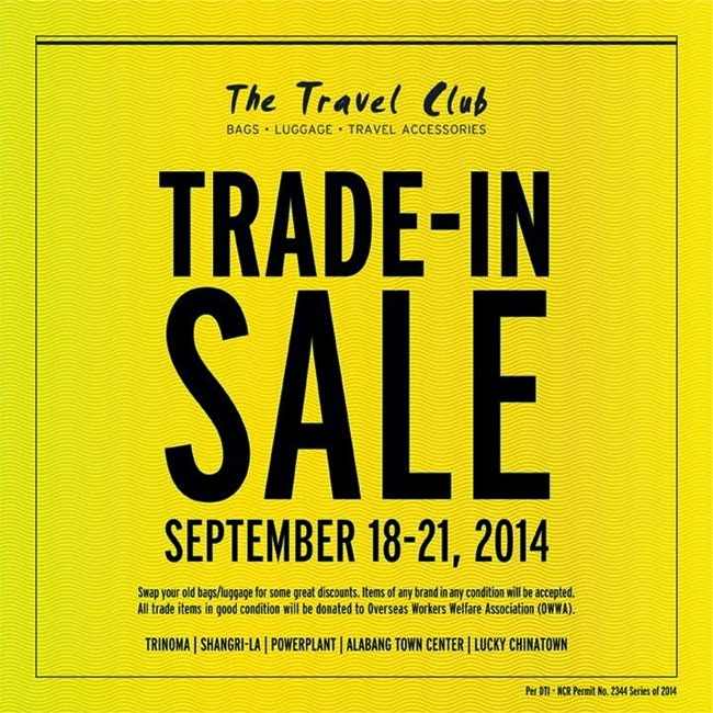 The Travel Club Trade-in Sale