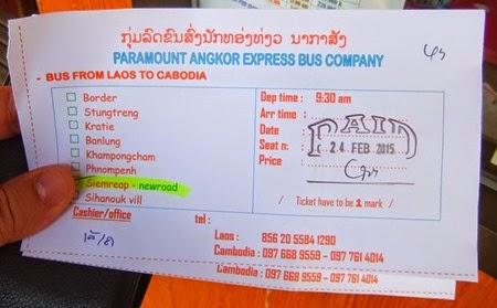 ticket de Paramount Angkor Express
