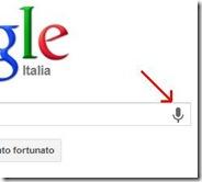 Ricerca vocale Google icona del microfono