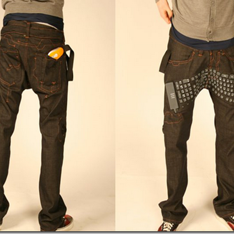 Blogging dimana mana bersama seluar jeans komputer riba !
