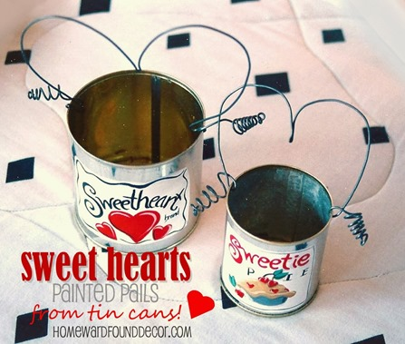 Valentine's painted can pail