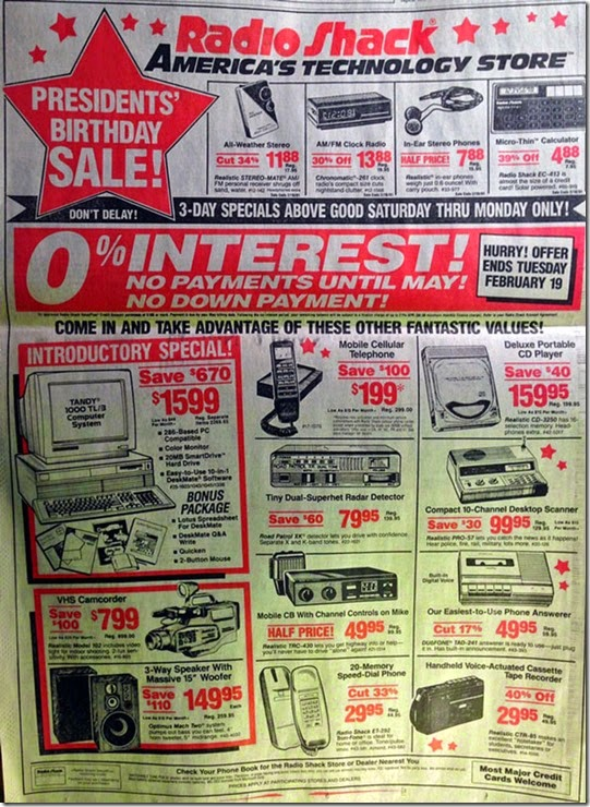 radio shack ad