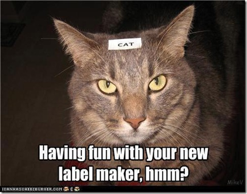 label cat