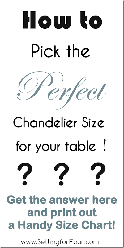 How to pick the Perfect Chandelier Size with Printable Size Chart from Setting for Four