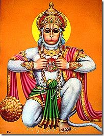 Hanuman with Sita and Rama in his heart