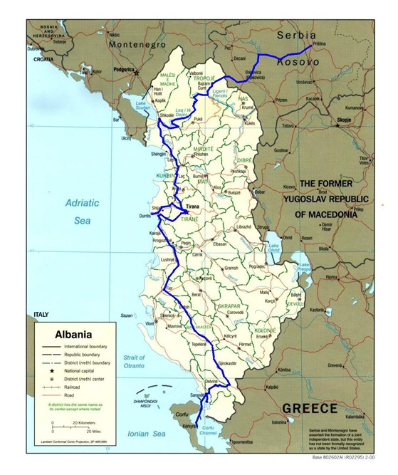 albania route map 5