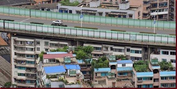 Rusun Underground China Tepat Dibawah Jalan Layang