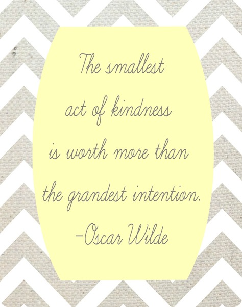 smallest act of kindness