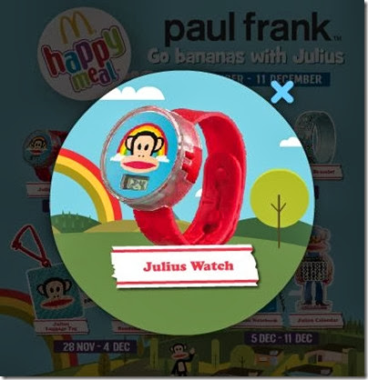McDonalds happy meal X Paul Frank - Go Banana with Julius watch